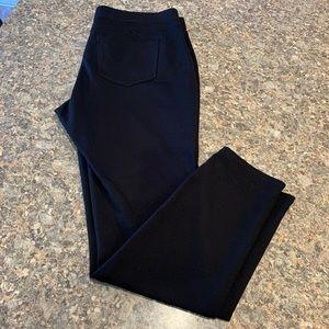 EUC St John's Bay skinny leg black stretchy pants.